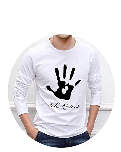 aoliaoyudongyongpin Skyrim Dark Brotherhood We Know Hand 100% Cotton Fashion Men t Shirt Men's Sportwear