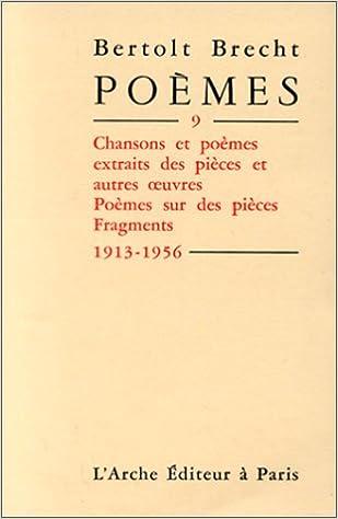 Livre Poèmes 1913-1956, tome 9 pdf, epub ebook