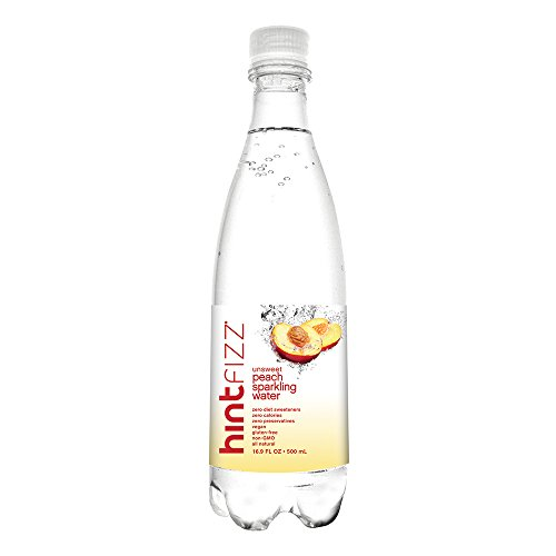 Hint Fizz Sparkling Water Peach (Pack of 12) 16.9 Ounce Bottles Unsweetened Peach-Infused Sparkling Water  Zero Sugar Zero Calories Zero Sweeteners Zero Artificial (Sparkling Peach)