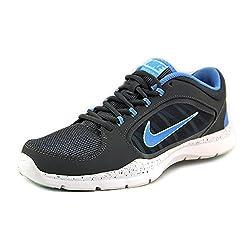 Nike Womens Flex Trainer 5 Running Shoe, Dark Greymedium Mintuniversity Blue - 7 B(m) Us