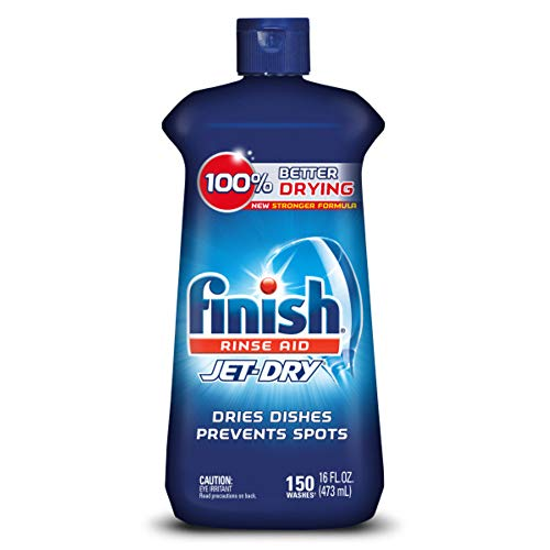 Finish Jet-Dry Rinse Aid, 16oz, Dishwasher Rinse Agent & Drying Agent