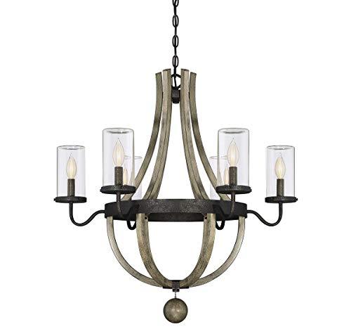 (Savoy House 1-2100-6-70 Eden 6 Light Outdoor Chandelier in Weathervane Finish)