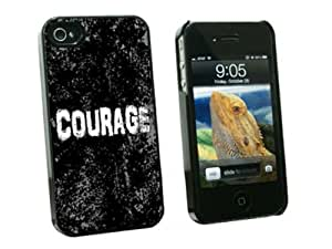 Graphics and More Courage Inspirational Snap-On Hard Protective Case for Apple iPhone 6 4.7 - Non-Retail Packaging - Black