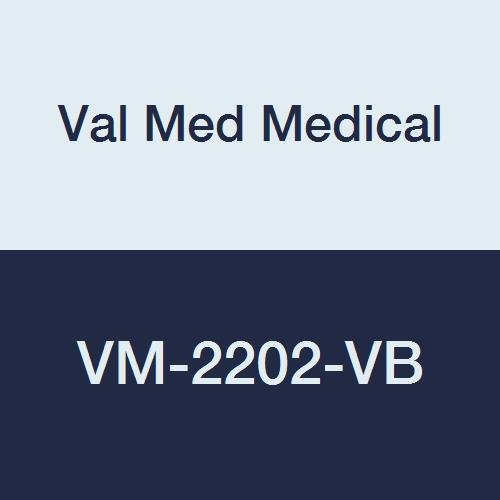 Val Med Medical VM-2202-VB Comfort Plus Terry Cloth Bib, Velcro Closure, 18'' Width, 30'' Length, Blue (Pack of 60)