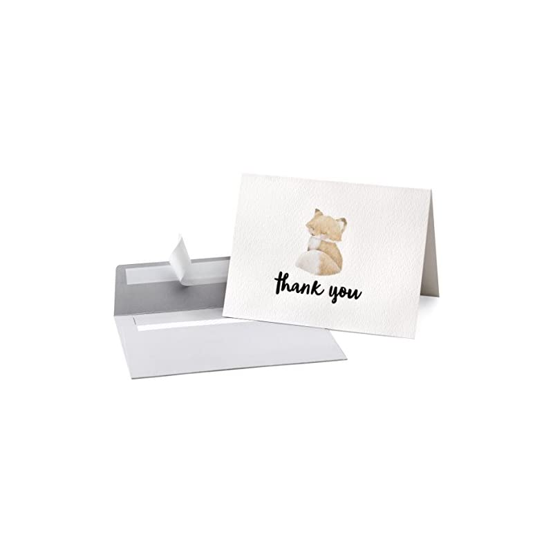 Cute Woodland Animal Thank You Cards and