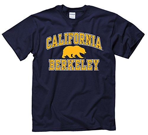 Campus Colors Cal Golden Bears Adult Arch & Logo Gameday T-Shirt - Navy, Medium