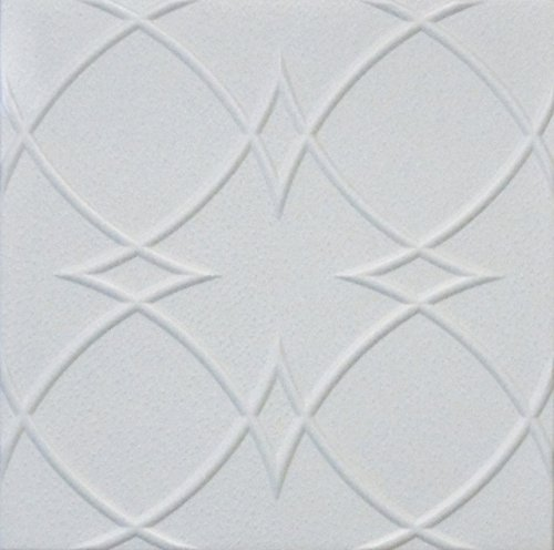 Decorative Styrofoam Ceiling Tile R-23 Pack of 4 Tiles 1/8