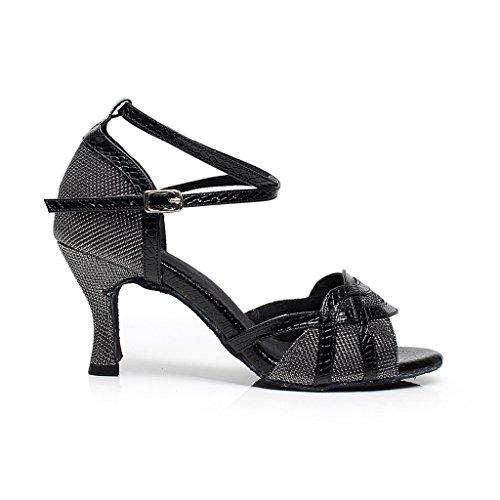 Misu Toe 75 Sandaalit Tango 2 Peep Kantapää Tanssikengät Tanssisali Latin Musta Naisten Käytännössä Salsa qqrZUFn