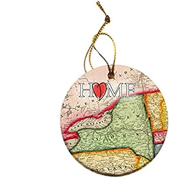 Amazon.com: New York Christmas Ornament New York State ...
