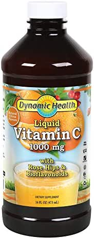 Dynamic HealthLiquid Vitamin C, 1000 mg, 16-Ounce Bottles (Pack of 3)
