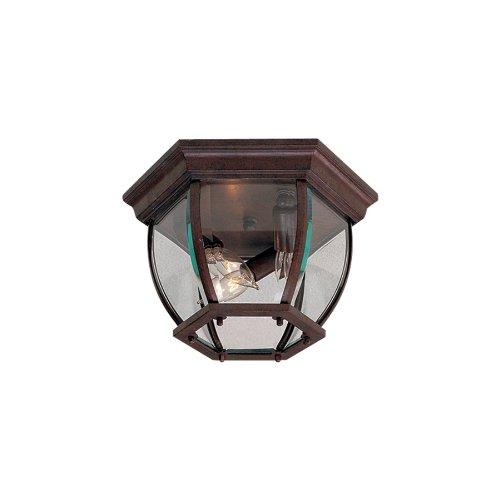 Bronze Flush Mount Outdoor Light - 3