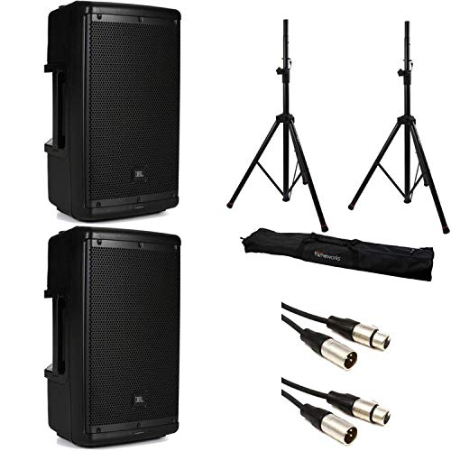 JBL EON610 Speaker Pair with Stands and Cables by Generic