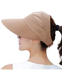 7ae7423248f Sun Hats for Women Wide Brim Sun Hat Packable UV Protection Visor Floppy  Womens Beach Cap