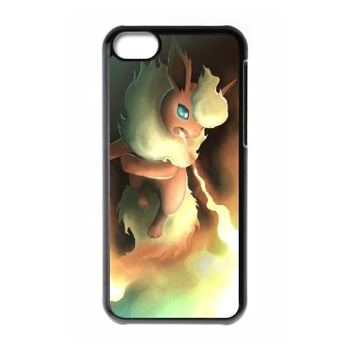 F5Y76 Pokemon V5Y0KO cas d'coque iPhone de téléphone cellulaire 5c couvercle coque noire XD2EBD1EB