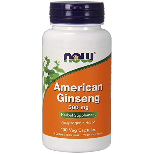 NOW Supplements, American Ginseng (Panax quinquefolius)500 mg, 100 Veg ()
