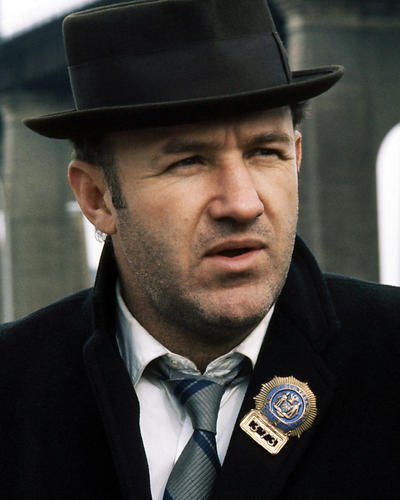 Gene Hackman 11x14 Promotional Photograph close up The French Connection in pork pie - Pork French