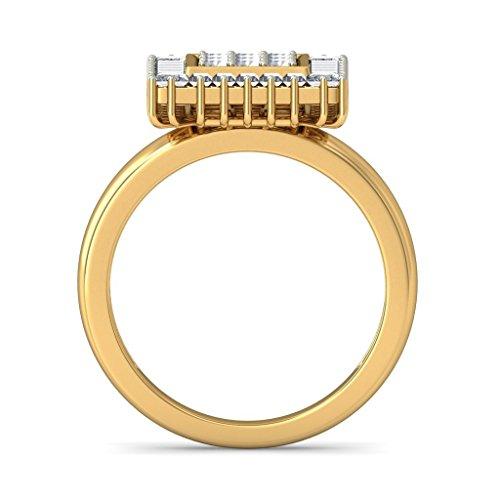 14K Or jaune, 0,75carat Diamant Blanc (IJ | SI) en diamant