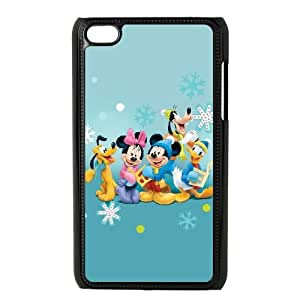 iPod Touch 4 Case Black_Disney Mickey Mouse Minnie Mouse_009 Q7X8F