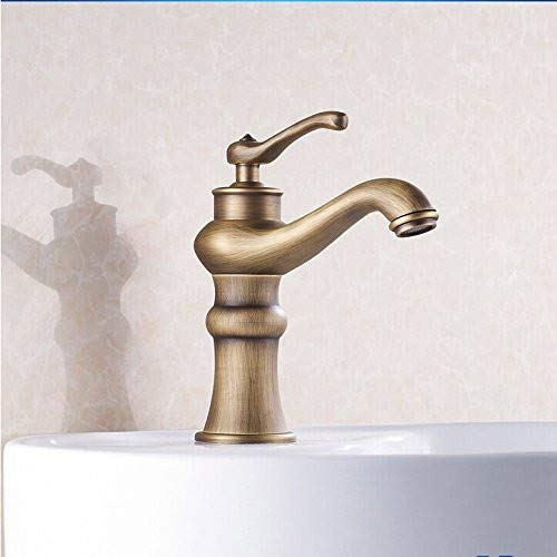 redOOY Taps Bathroom Kitchen Basin Faucet Antique Bronze Finish Brass Mixer Tap Hot And Cold Sink Faucet Bath Taps