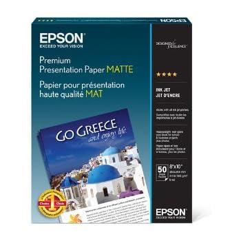 Epson Premium Presentation Paper MATTE (8x10 Inches, 50 Sheets) (S041467)