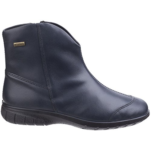 Ladies Cotswold Glympton Slip On Waterproof Boots Leather Ankle Womens Navy w4wr5qT