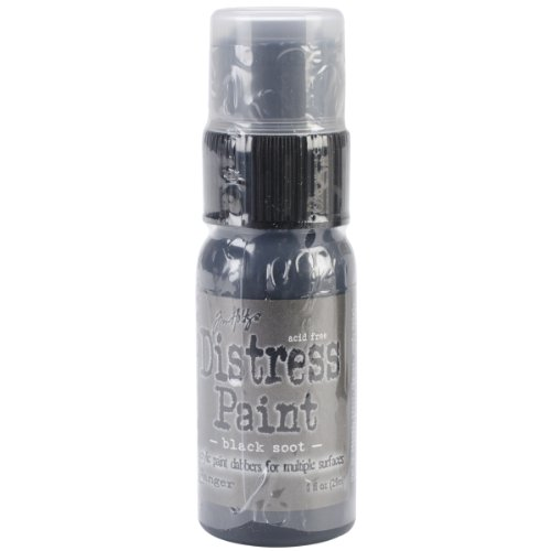 Ranger Tim Holtz Distress Paint, 1-Ounce, Black Soot -