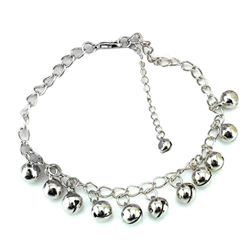 elets for Women,Bells Pendant Anklet Bracelet Beach Foot Chain (Silver) ()