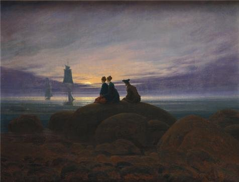 'Caspar David Friedrich -Moonrise Over The Sea,1822' Oil Painting, 8x10 Inch / 20x27 Cm ,printed On High Quality Polyster Canvas ,this Vivid Art Decorative Canvas Prints Is Perfectly Suitalbe For Nursery Gallery Art And Home Decoration And