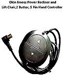 Cheap YL 2 Button, 5 pin 90°Universal Hand Controller For Okin limoss Power Recliner or Lift Chair