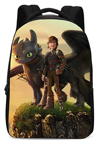 Apparel Train (How to Train Your Dragon Backpack Hiccup Bags Night Fury Toothless Schoolbags for Men Boys Girls)