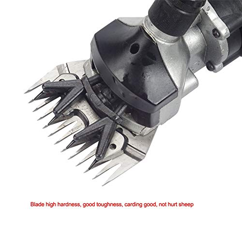 Hengwei 110V 450W Professional High Speed Electric Sheep Shearing Clipper Scissors Shears Cutter Goat Grooming Shearing Clippe with 13 Teeth Straight Blade for Farm Animal Livestock by Hengwei (Image #1)