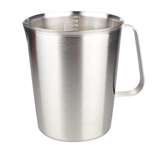 2000ml Stainless Steel Coffee Milk Pitcher Frothing Cup - SILVER - 5