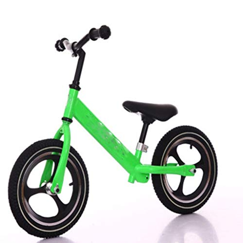 SAN_Q Children's Balance Bicycle, Children's Baby Two-Wheel Balance car No Pedal Inertia Bicycle Walker (Color : Green) ()