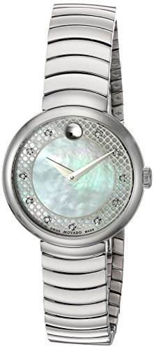 Movado Women's Swiss Quartz Stainless Steel Casual Watch, Color:Silver-Toned (Model: 0607044)