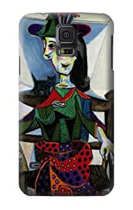 S0184 Picasso Dora Maar au Chat Case Cover for Samsung Galaxy S5
