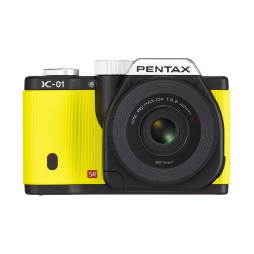 Pentax K-01 16MP APS-C CMOS Mirrorless Digital Camera Kit with DA 40mm Lens (Yellow) by Unknown