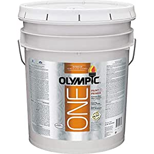 Olympic One White Latex Enamel Interior Paint And Primer