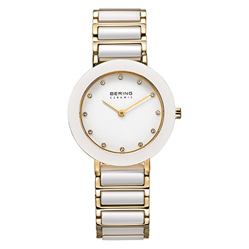 BERING Time 11429-751 Womens Ceramic Collection Watch with Stainless steel Band and scratch resistant sapphire crystal. Designed in Denmark.