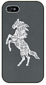 I will instruct you, teach you in the way you should go - White horse - Psalm 32:8 - Bible verse iPhone 4 / 4s black plastic case / Christian Verses