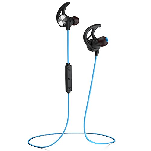 Phaiser BHS-750 Bluetooth Headphones Runner Headset Sport Earphones with Mic and Lifetime Sweatproof Guarantee - Wireless Earbuds for Running, Oceanblue by Phaiser