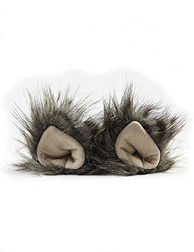 Jungle Cat Costume Ideas (KritterKlips Handmade Fun Animal Ears For Dress Up (Grey Wolf))