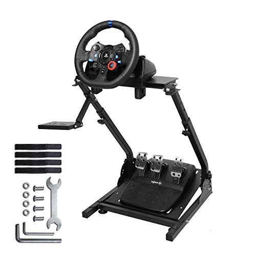 Marada G920 Racing Wheel Stand G27,G25, G29 G920 Gaming Racing Simulator Wheel Stand Racing Wheel Pro Stand Wheel Pedals Not Included Marada