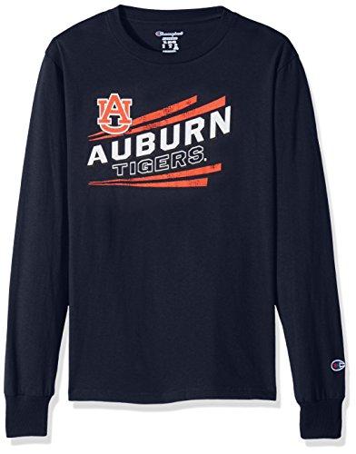 Champion NCAA Auburn Tigers Youth Boys Long Sleeve Jersey Tee, Large, Navy