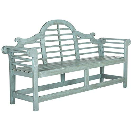 Safavieh Outdoor Collection Khara Bench, Beach House - Bench Garden Lutyens