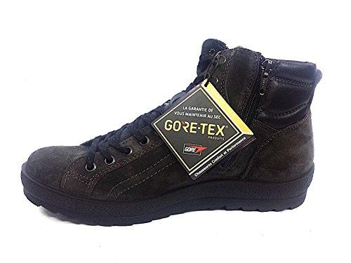 IGI&CO 66781 grigio antracite scarpe uomo scarponcini camoscio lacci mid Grigio