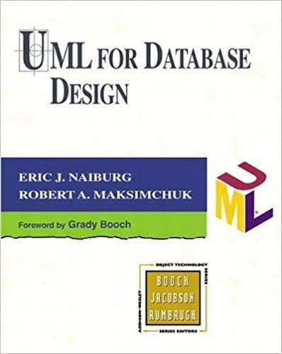 By Eric J. Naiburg - UML for Database Design: 1st (first) Edition