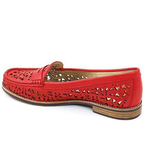 Echt Leer Gemaakt In Brazilië East Village Klassieke Penny Loafer Marc Joseph Ny Fashion Shoes Red