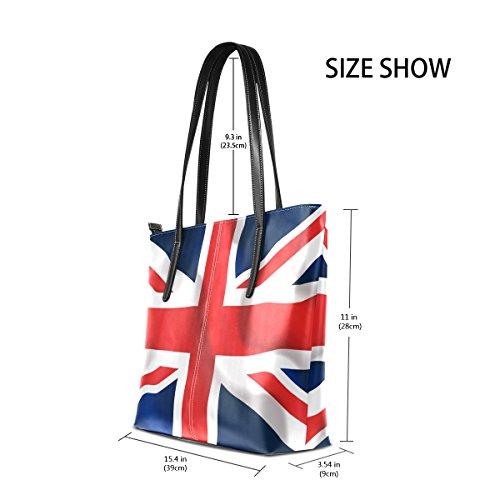 COOSUN UK Waving Flag PU Leder Schultertasche Handtasche und Handtaschen Tasche für Frauen