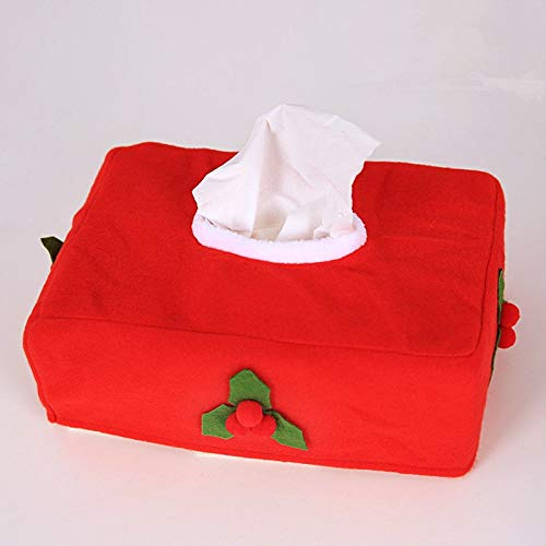 Tissue Boxes - Christmas Rectangle Applique Tissue Box Cover Paper Holder Home Table Decoration - Pack Decorative Wedding Covers Travel Empty Round Boxes Mini Leather Holder Rectangular Tissue