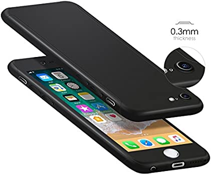 ORETECH Designed for iPhone 6s Case,ORETECH iPhone 6/6s Case Full Body Hard PC Case with[2 x Tempered Glass Screen Protector] Ultra Thin Lightweight ...
